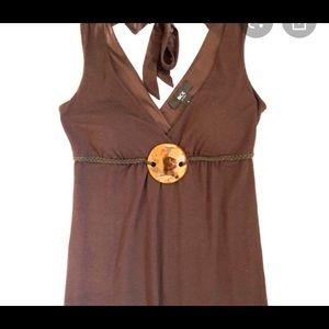 BCX sleeveless boho maxi dress. Medium
